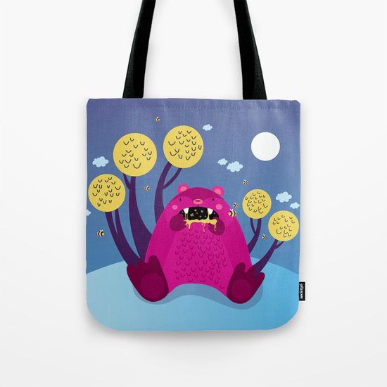 The bear and the bees Tote Bag