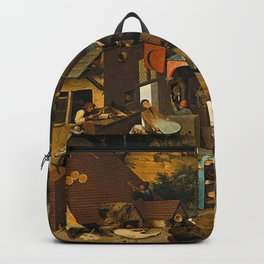 Pieter Bruegel the Elder Netherlandish Proverbs Painting Backpack