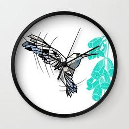 Hummingbird geometric Wall Clock