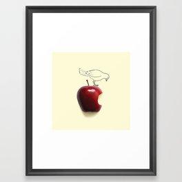 Apple - Bird Framed Art Print