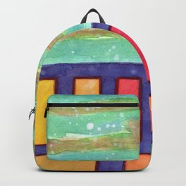 Building with colorful Windows Backpack