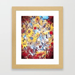 Sun flower fields (2016) Framed Art Print