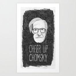 Cheer Up Chomsky Art Print