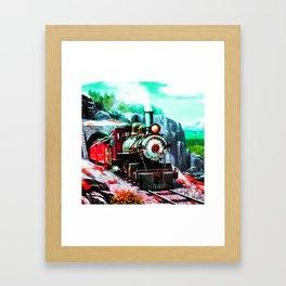 starry night train Framed Art Print