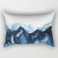 Abstract Indigo Mountains Rectangular Pillow