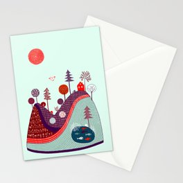 BLUE PURPLE HILL Stationery Cards
