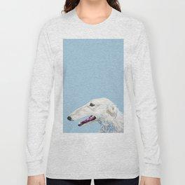 Realistic dog portrait pet dog Long Sleeve T-shirt