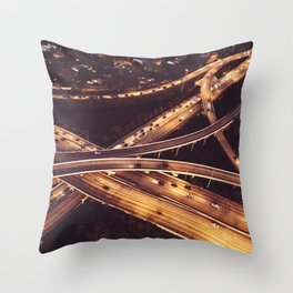 highway aerial view Throw Pillow