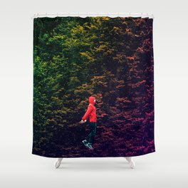 I know this shortcut through the stars Shower Curtain