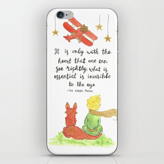 The Little Prince Quote art iPhone Skin by imagodeinurserydecor