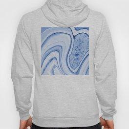 Blue Crystal Watercolor Effect Design Hoody