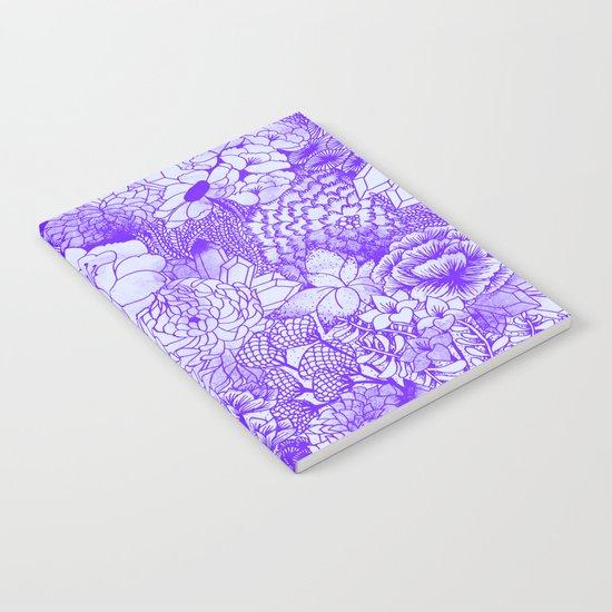 Shocking Purple Floral Notebook