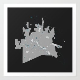 McKinney Texas Minimalist Map (Dark) Art Print
