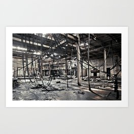 Abandon Battery Factory Art Print
