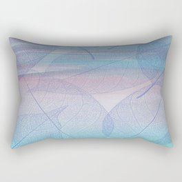 Painterly Pastel Leaves Abstract Rectangular Pillow