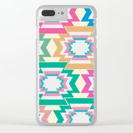 Multicolored native shapes Clear iPhone Case