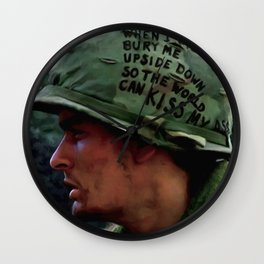 Charlie Sheen #2 @ Platoon Wall Clock