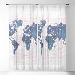 Map Sheer Curtain