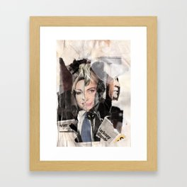 Sarkozy Collage Framed Art Print