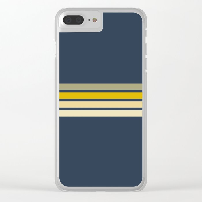 Racing Retro Stripes Clear iPhone Case