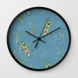 Canoeing down the River Wall Clock