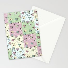 Pajama'd Baby Goats - Patchwork Stationery Cards