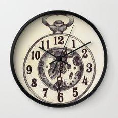 Ballpoint Pen, Half Hunter Pocket Watch Wall Clock