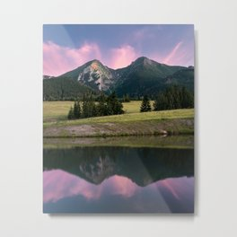 Two towers - landscape, nature, print, painting, wallpaper, slovakia Metal Print