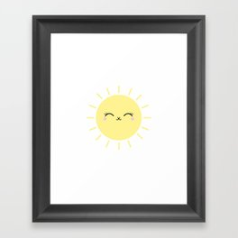 Sun Cute Eyes Framed Art Print