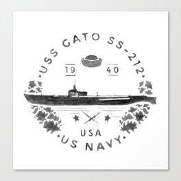 USS Gato Submarine Canvas Print