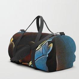 Blue Rose Duffle Bag