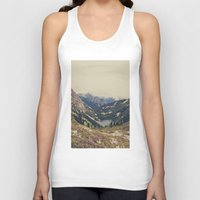 pink Tank Tops featuring Mountain Flowers by Kurt Rahn