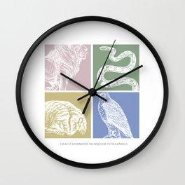 Draco dormien nunquam titillandus Wall Clock