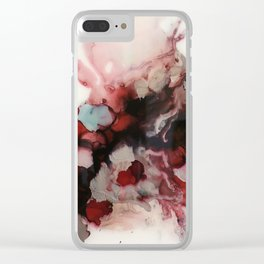 rosy and right as rain Clear iPhone Case