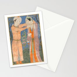 Princely Couple, 1405, Persian Art Stationery Cards
