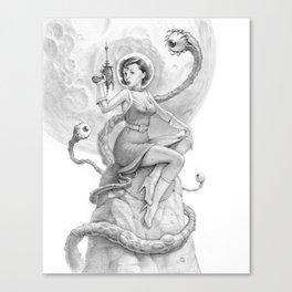 Astro Babe B&W Canvas Print