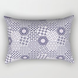 Spanish Tiles of the Alhambra - Violets Rectangular Pillow