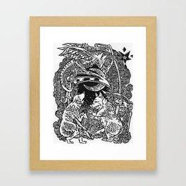 Pig, Wolf, & Spectre Framed Art Print