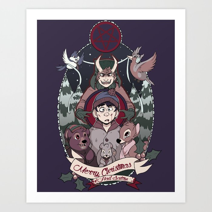 South Park Christmas.Merry Critter Christmas South Park Art Print By Caledonianpeach
