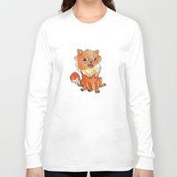 pomeranian Long Sleeve T-shirts featuring Pomeranian by Elizabeth Ranson