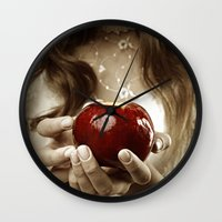 fairy tale Wall Clocks featuring Fairy Tale by Judy Hung
