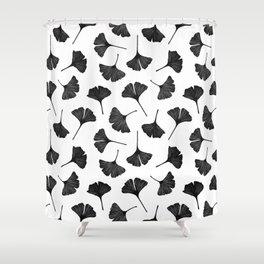 Ginkgo Biloba | Black Palette  Shower Curtain
