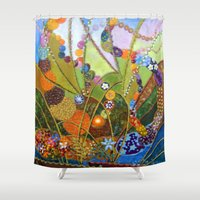 happiness Shower Curtains featuring Happiness by Vargamari