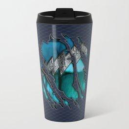 Quick Pietro Maximoff Silver Chest Ripped Torn Blue teal tee tshirt Travel Mug