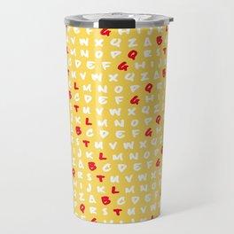 Abc's yellow Travel Mug
