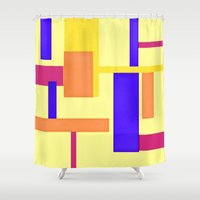 geo Shower Curtains featuring Geo by lillianhibiscus