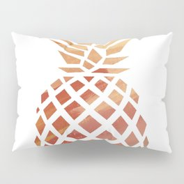 Tropical Pineapple Coral Pillow Sham