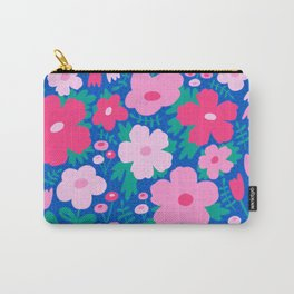 Flower bonanza - Blue background Carry-All Pouch