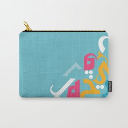 Blue Arabic Carry-All Pouch