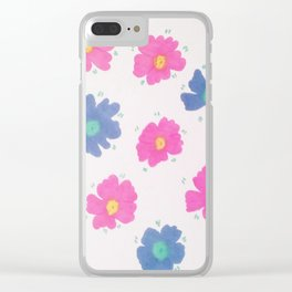 Spring Blooms Clear iPhone Case